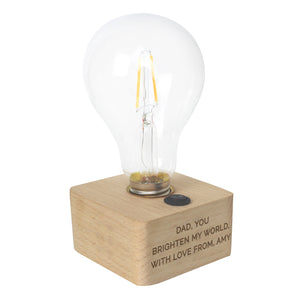 Personalised Message LED Bulb Table Light