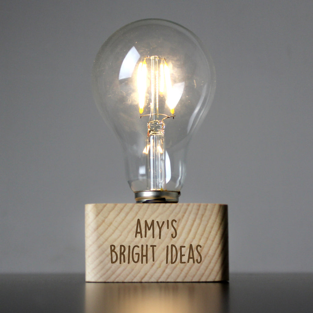 Personalised free text LED Bulb Table Light