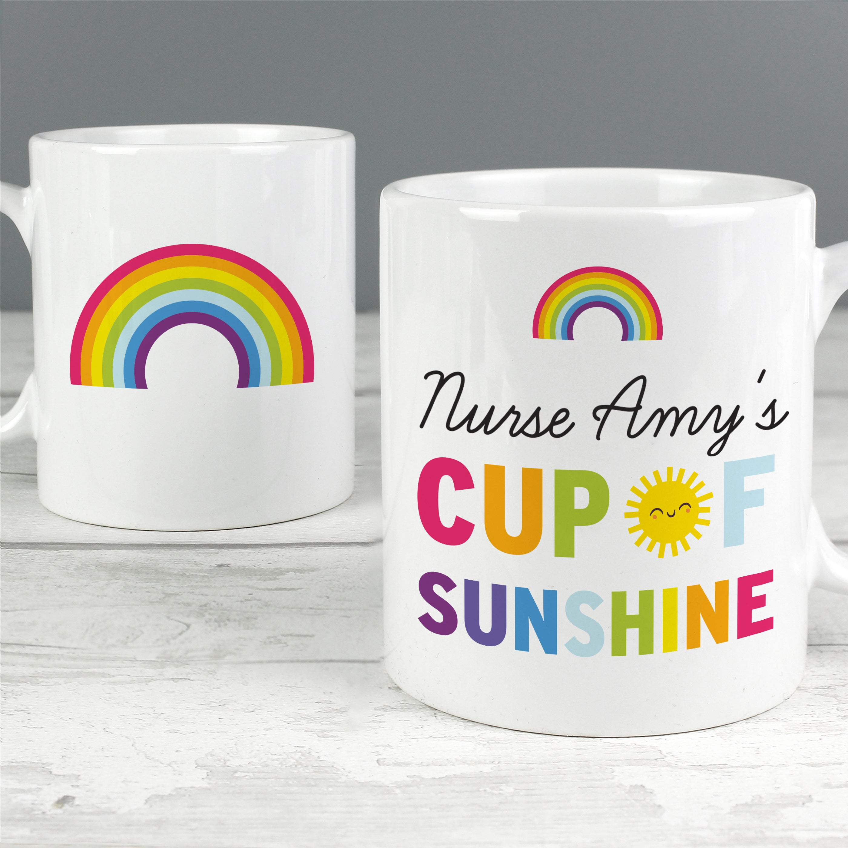 Personalised Rainbow Cup of Sunshine Mug