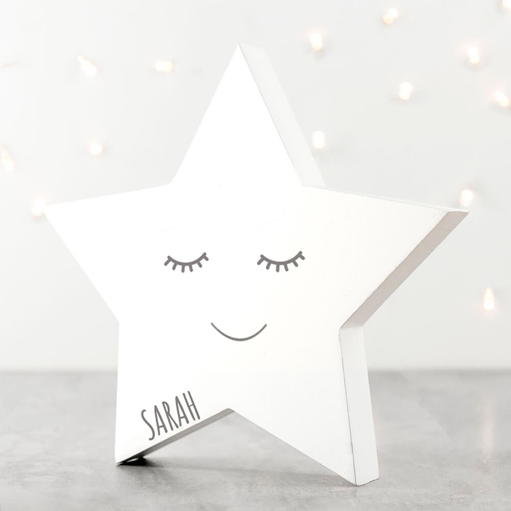 Personalised Smiling Star Keepsake - Various Colours