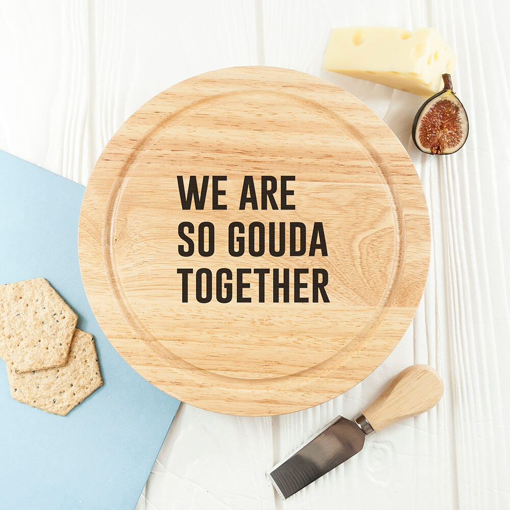 Personalised Cheese Lover Round Board Set