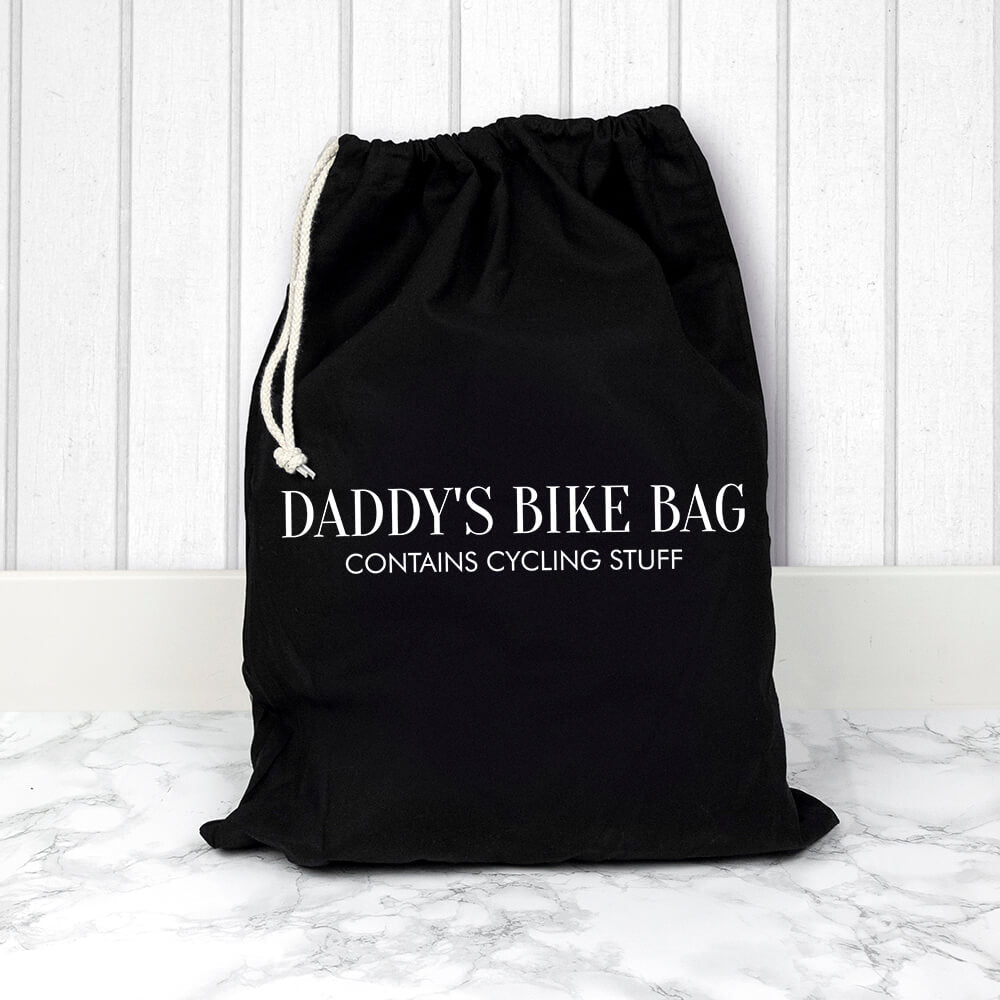 Personalised Cotton black gym bag