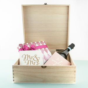 Personalised Wedding Memory Box