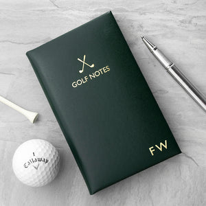 Luxury Initialed Golf Notebook