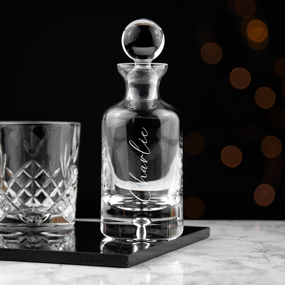 Personalised Script Decanter