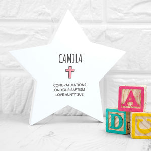 Personalised Christening Star Keepsake