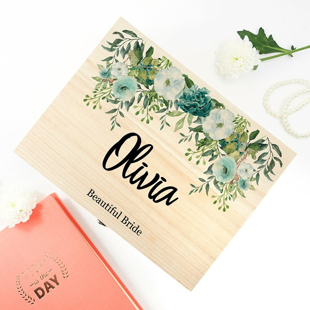 Personalised Floral Bridal Party Box