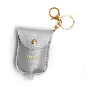 Personalised Refillable Hand Sanitiser Holder Keyring