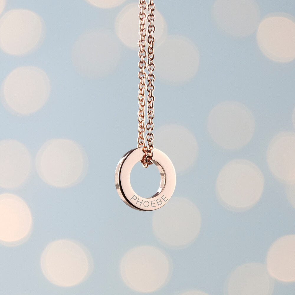 Personalised Mini Ring Necklace