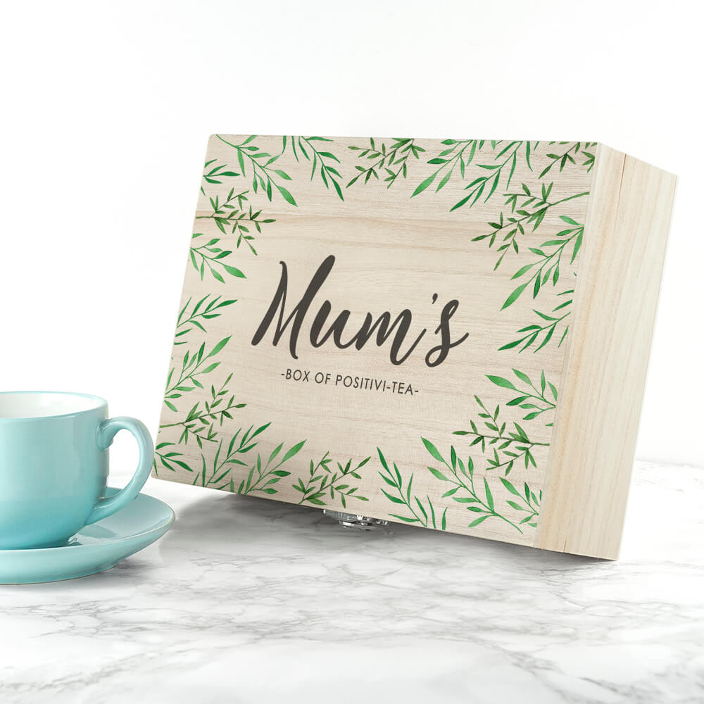 Personalised Positivi-tea Mother's Tea Box