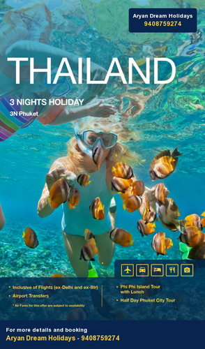 Phuket 5 days with flight @ 32,999/- limited nights