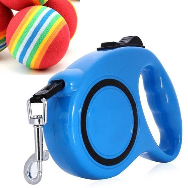 Dog Retractable Leash 3M 5M + FREE DOG BALL!