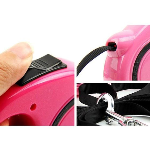 Image of Dog Retractable Leash 3M 5M + FREE DOG BALL!