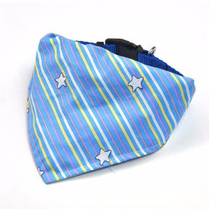 Dog Neckerchief Scarf Collars - Blue