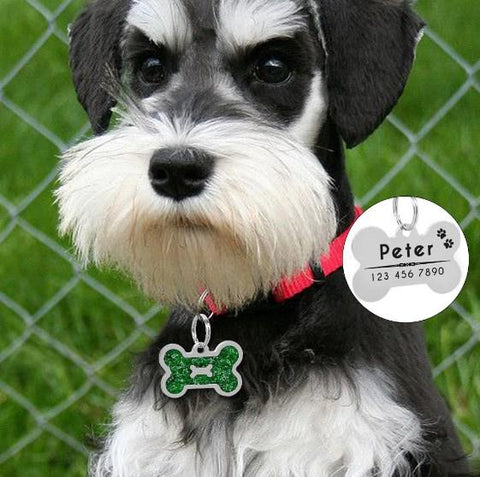 Dog Accessories - Personalized Bone Shape Dog ID Name Tag
