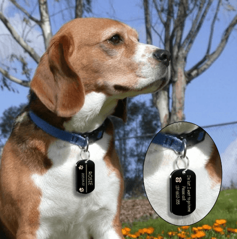 Personalized Engraved Metal Military ID Dog Tag