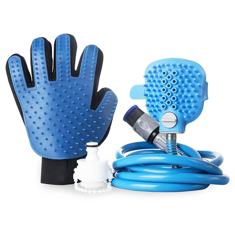 Dog Clean Up & Odours - Shower Nozzle & Grooming Massage Brush