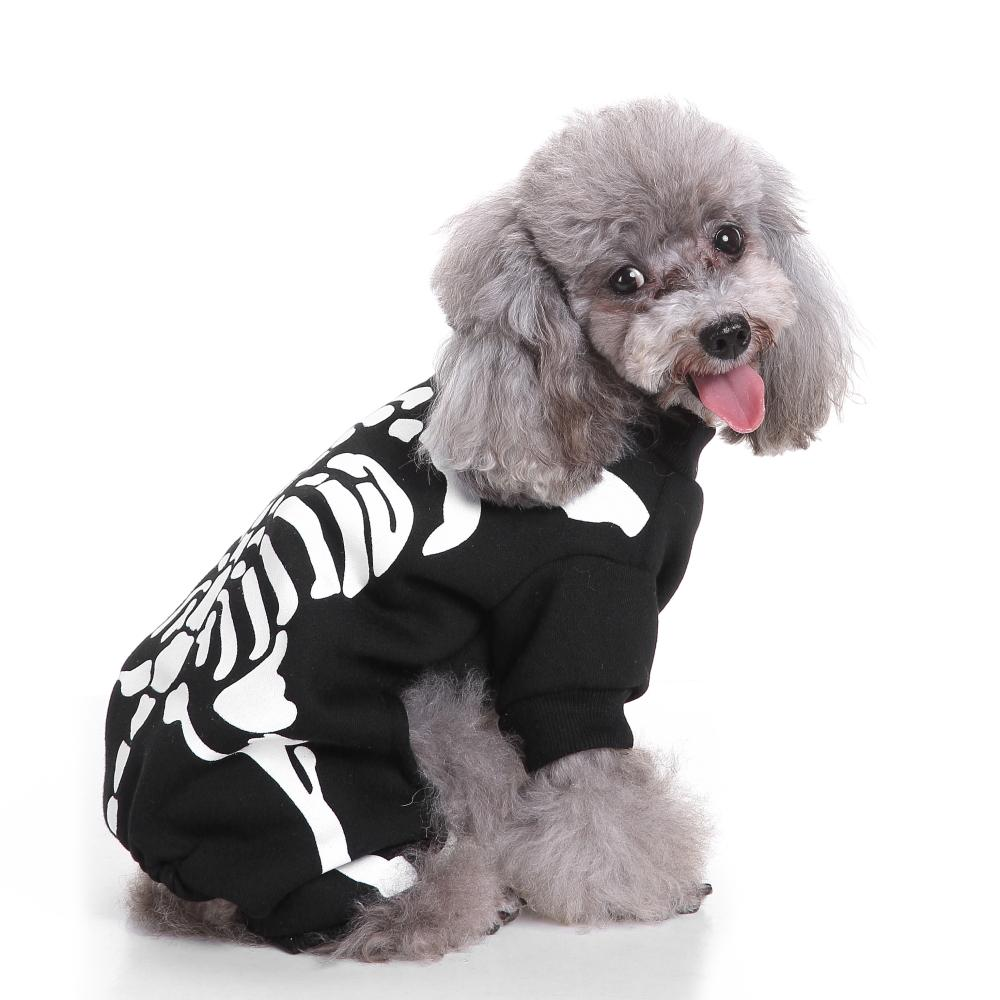 Winter Halloween Skeleton Dog Costume