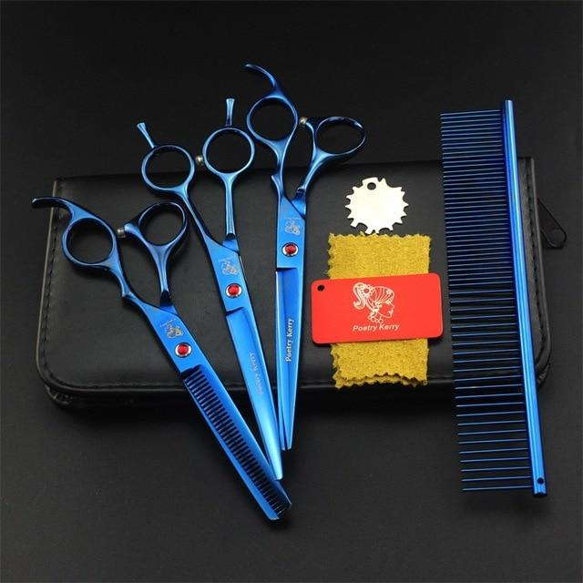 Dog Grooming Scissors Straight Curved Thinning