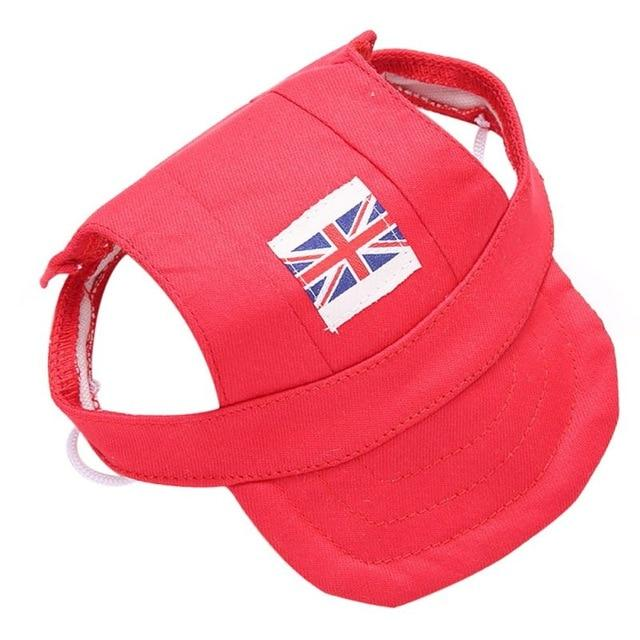 Dog Visor Cap With Union Flag Design
