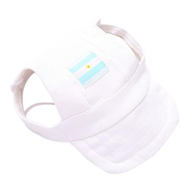 Dog Visor Cap - White