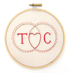 Embroidery Pattern: Venn Diagram Love
