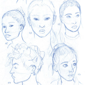 The 100 Heads Drawing Challenge