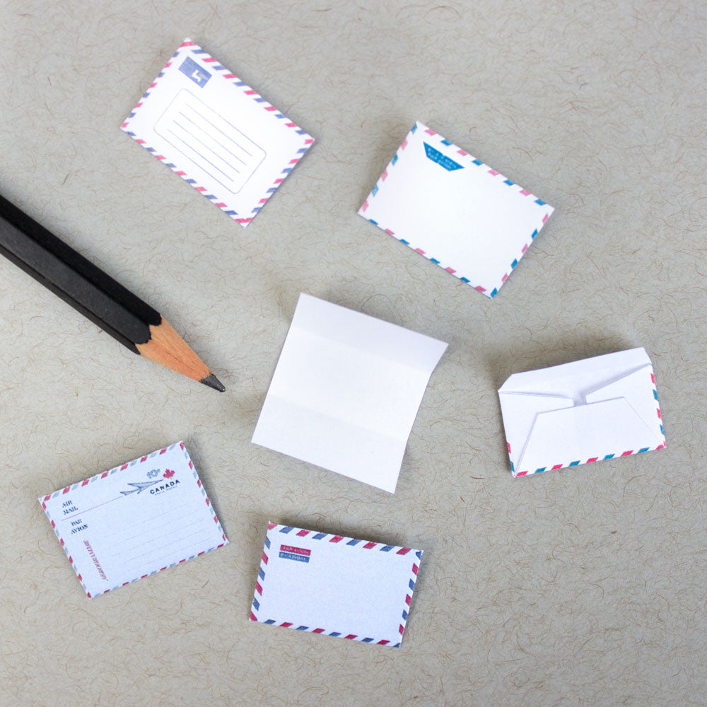 Printable: Miniature Par Avion Envelopes