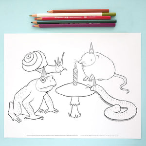 Coloring Page: Party Animals!
