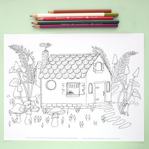 Coloring Page: Tiny Witch's Cottage