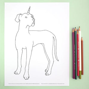 Coloring Page: Dogicorn