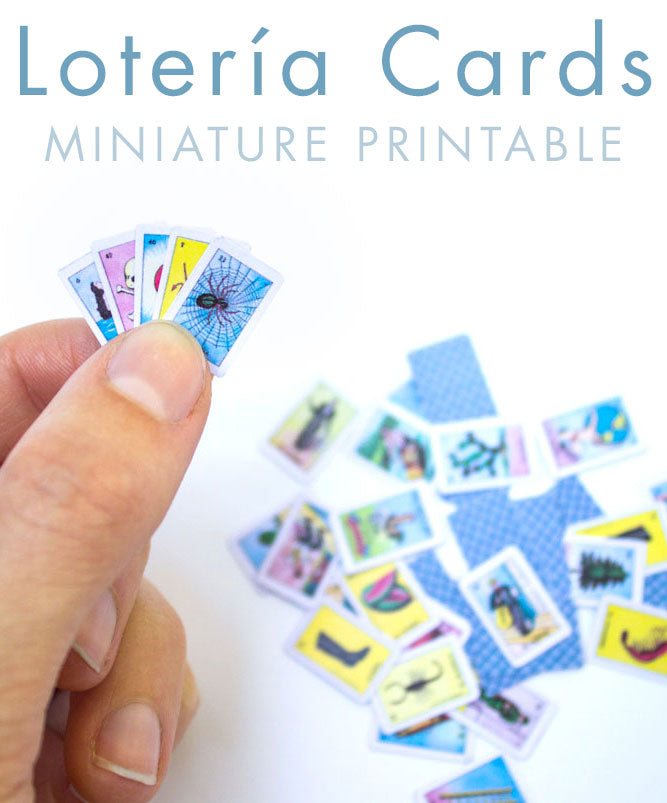 photograph relating to Printable Miniatures titled Printable: Miniature Loteria Playing cards Bees Knees Industries