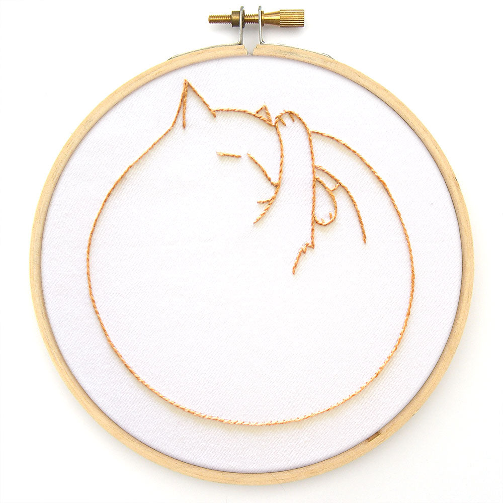 Catnaps embroidery pattern