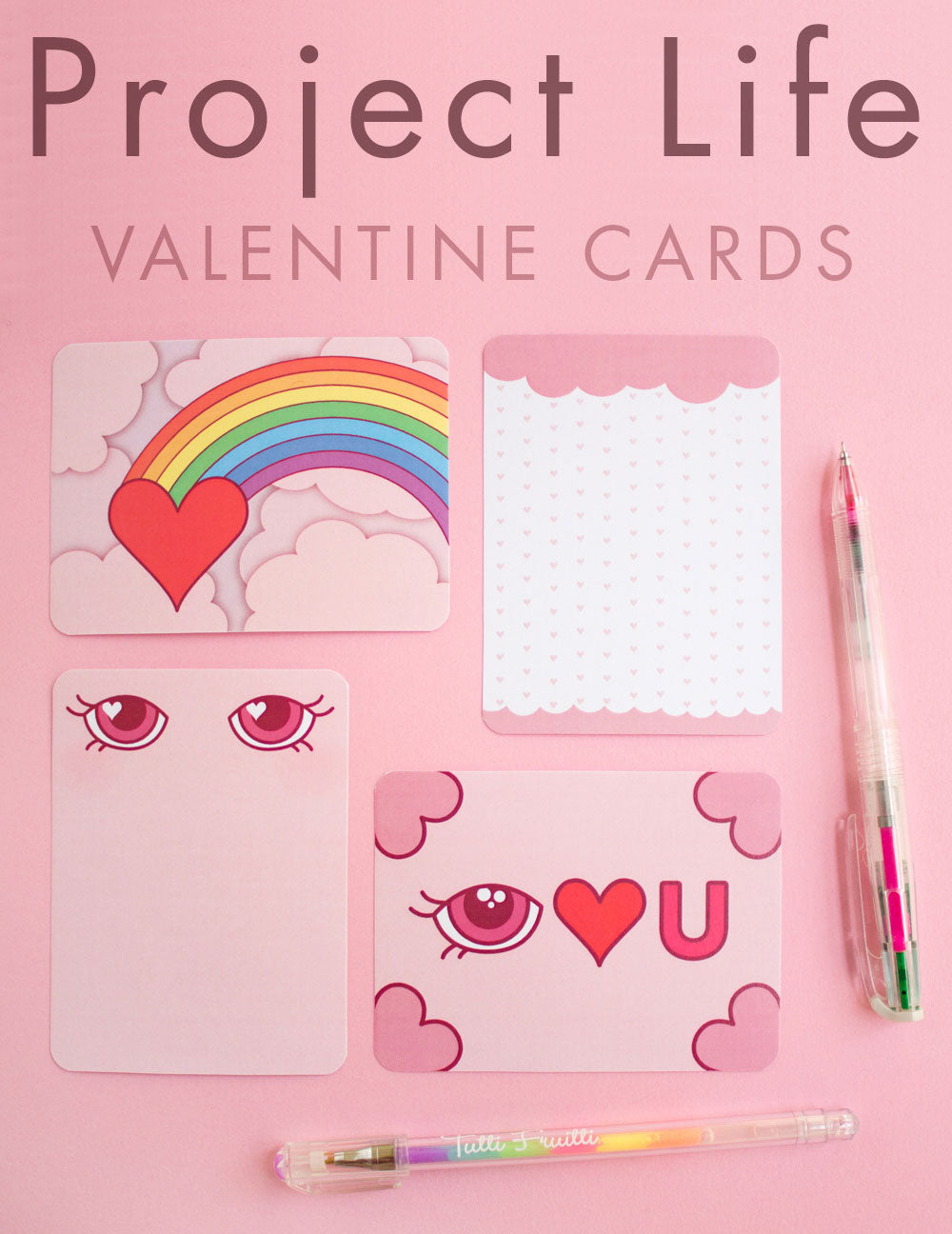 Printable Valentine scrapbooking cards