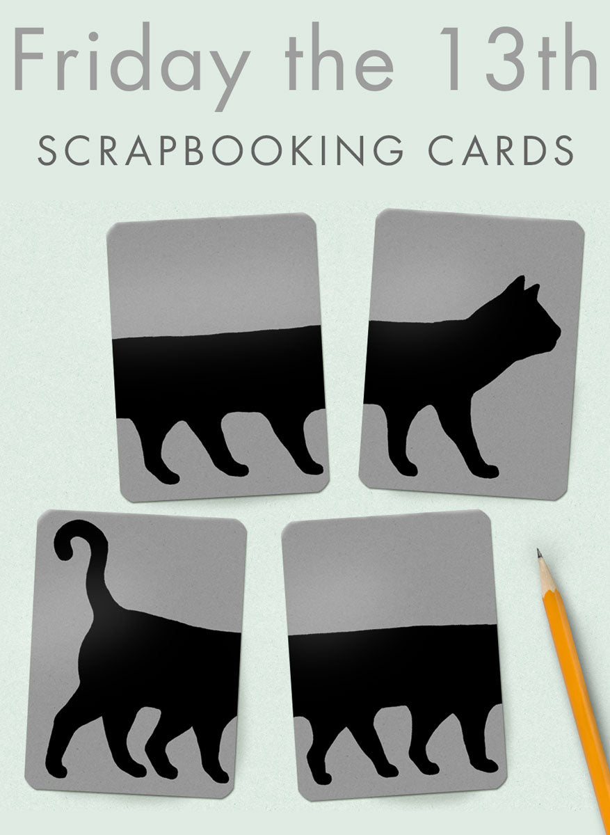 Friday the 13th Cat scrapbooking cards