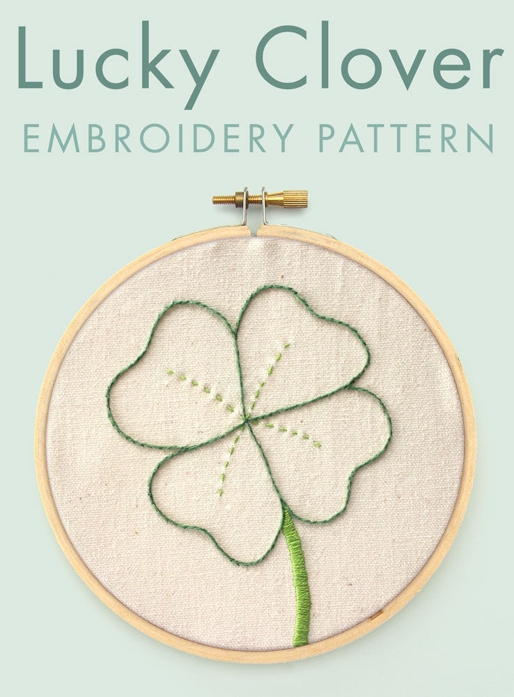 Lucky Clover embroidery pattern