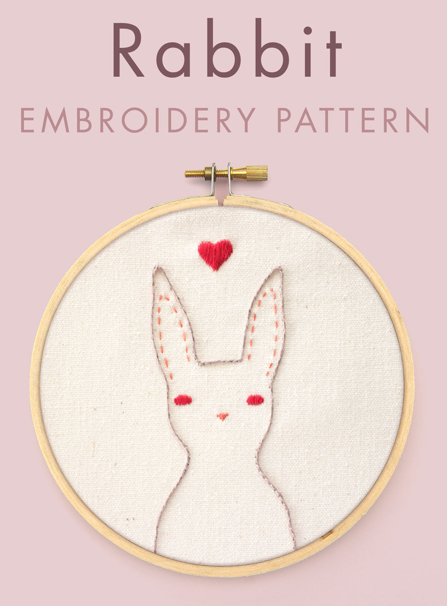 Rabbit embroidery pattern