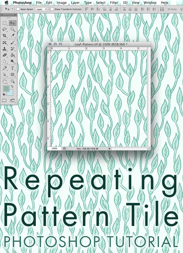 Repeating Pattern Tile in Photoshop