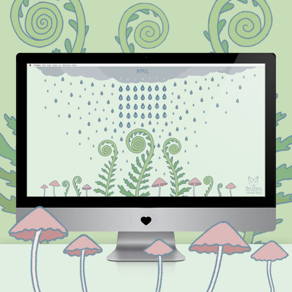 April Showers computer desktop