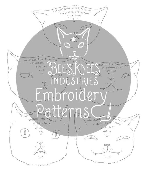 Expressive Cats Embroidery Patterns