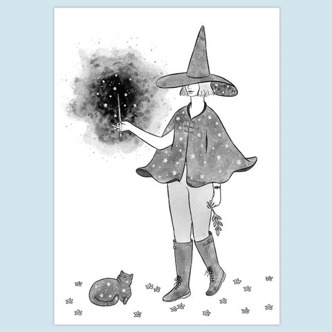 Starry Witch Print