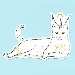 Fantastical Caracal Cat Sticker