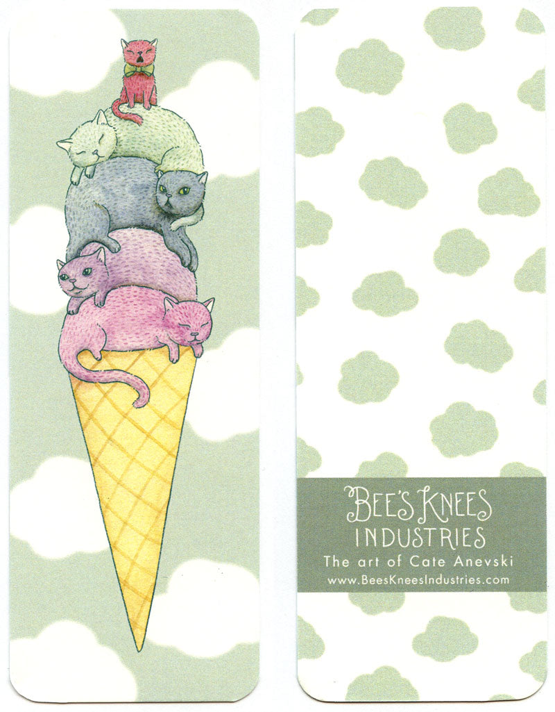 Ice Cream Cats Bookmark