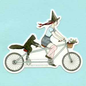 Tandem Witch Sticker