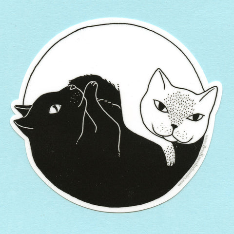 Yin Yang Cats Sticker