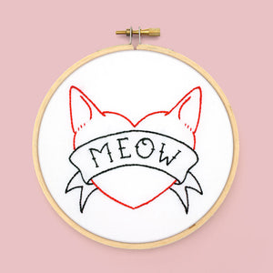 I Heart Cats Embroidery Patterns