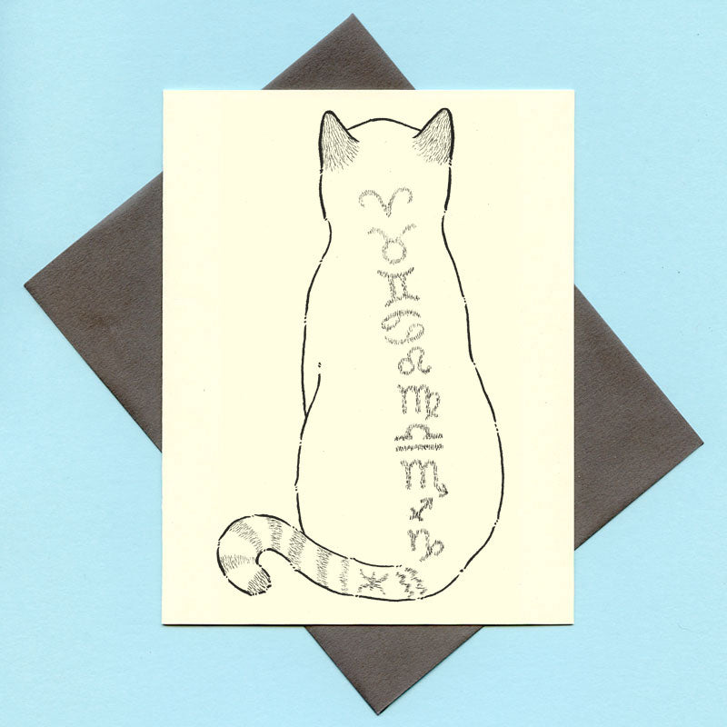 Zodiac Cat Greeting Card