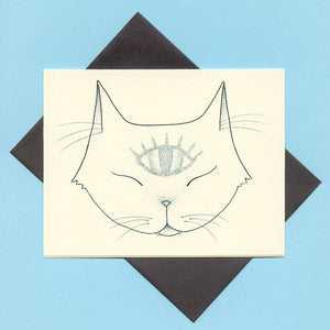 Third Eye Cat Greeting Card