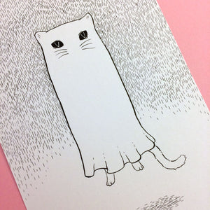 Ghostie Cat Original Drawing