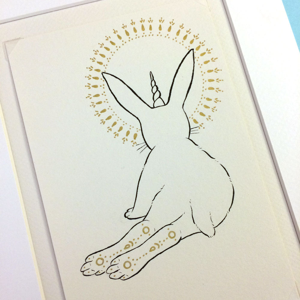 Fantastical Hare Original Drawing